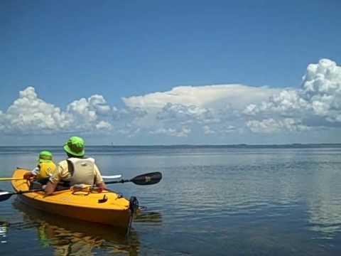Kayaking Pine Island Sound behind Captiva, Florida.