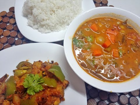 Monday Lunch Specials|Simple Indian Lunch Recipes Vegetarian|Sambar Recipe & Potato fry Tamil