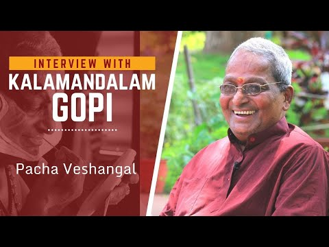 Kalamandalam Gopi on his Pacha Vesham (Green characters of Kathakali)