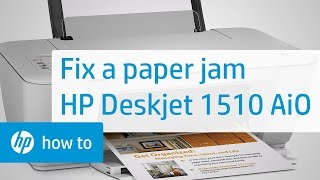 Fixing A Paper Jam - HP Deskjet 1510 All-in-One Printer