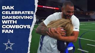 Dak Prescott Celebrates Daksgiving w/ Cowboys Fan
