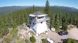 Overhead site flight, Calpine Fire lookout