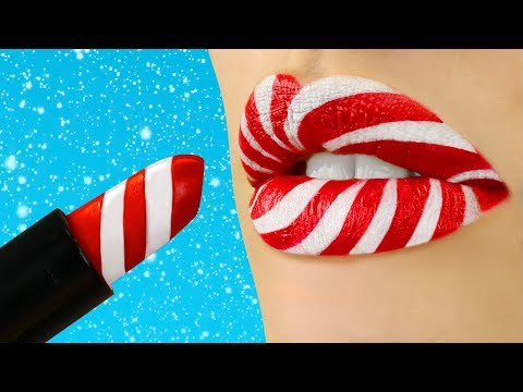 7 DIY Weird Makeup Ideas / Christmas Pranks!