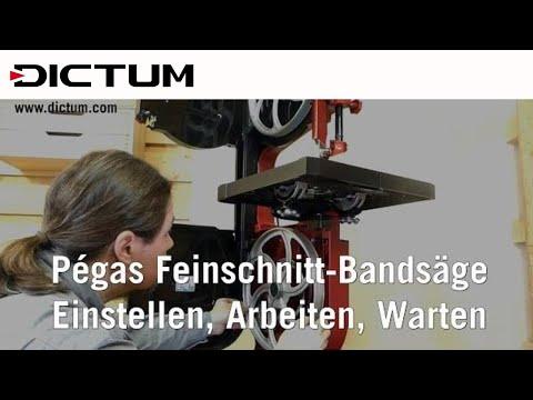 DICTUM Pégas Feinschnitt-Bandsäge (2) - Einstellen, Arbeiten, Warten