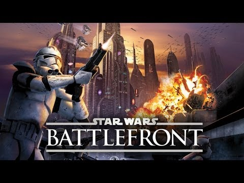 Star Wars Battlefront (SWBF) Multiplayer Gameplay Online: Luke Skywalker vs Emperor Coruscant Map