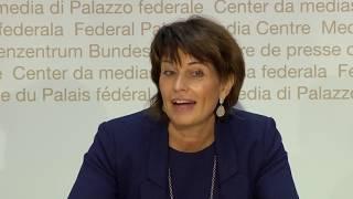 27.09.2018 - Rücktrittserklärung von Doris Leuthard