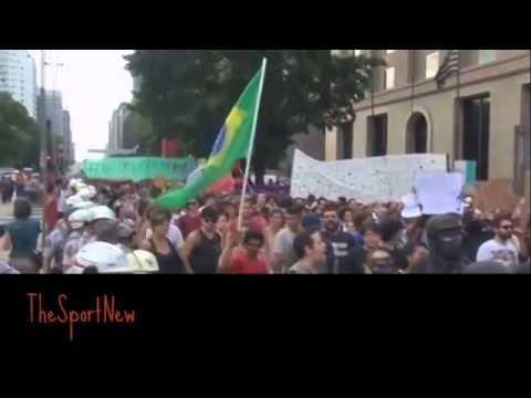 Protests against the World Cup 2014 in Brazil / protestation au brésil contre la coupe du monde 2014