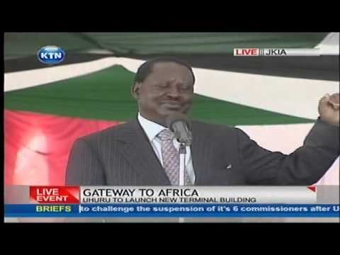 Raila Odinga's speech at the JKIA groundbreaking ceremony