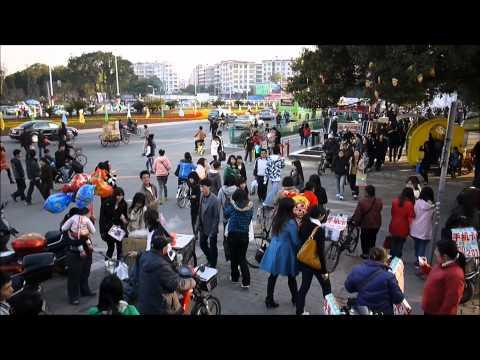 Street Scene in Ganzhou, Jiangxi Province, China