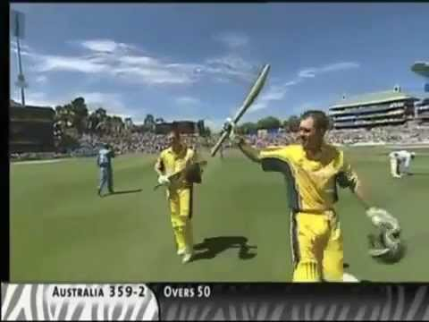Ricky Ponting 140 Not Out - Crushes India to a Humiliating Defeat in 2003 World Cup Final