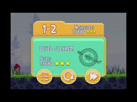 Angry Birds Lite | 3 Star Walkthrough | Level 2