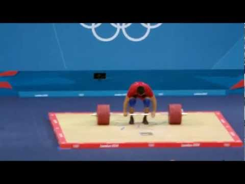 London 2012 - Weightlifting - Mens 94 Kg - Clean and Jerk Part 1 Image 1