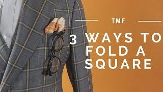 3 Dapper Ways to Fold a Pocket Square