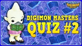 DIGIMON MASTERS QUIZ #2  - Test Your Knowledge about DMO!