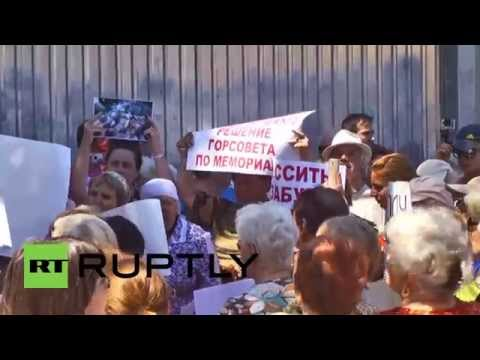 Ukraine: Anti-Maidan protest for memorial to Odessa victims and against Saakashvili