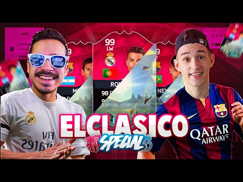 FIFA 16 : EL CLÁSICO PACK AND PLAY - REAL MADRID (BBC) VS. FC BARCELONA (MSN) !!