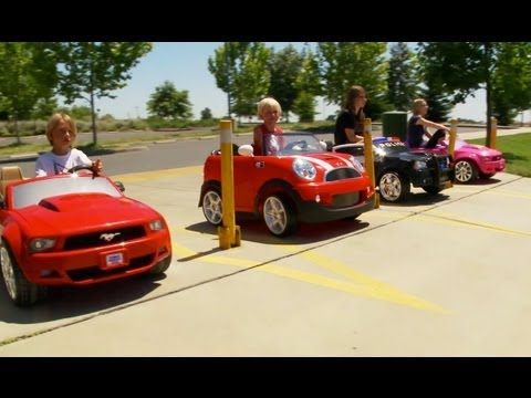 Mustang Big Wheels ▶ Power Wheels 4 Way Big Race