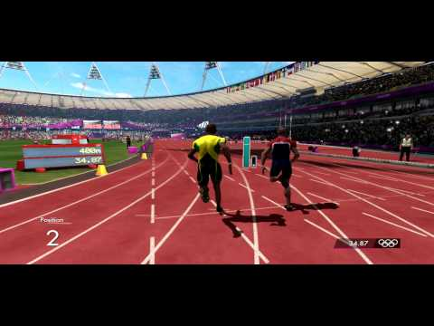 London 2012 Olympic Game - Usain Bolt Track 400m Gameplay
