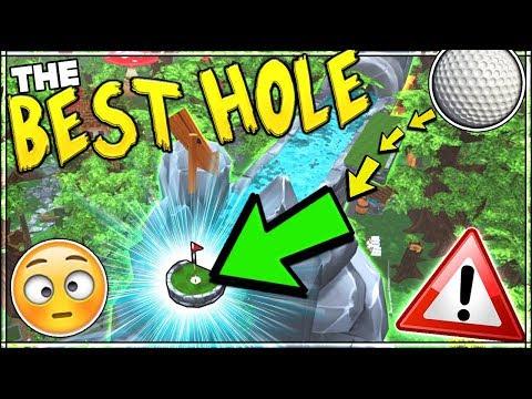 THE BEST WATERFALL INTO A HOLE IN ONE GOLF COURSE!! Paradise Golf v2   Golf It With Friends