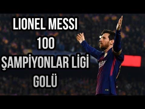 Lionel Messi'nin - Şampiyonlar Ligi'nde Attığı 100 Gol | Tüm Goller • HD