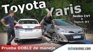 Prueba nuevo Toyota Yaris 5P manual y Sedán automático   Autocosmos