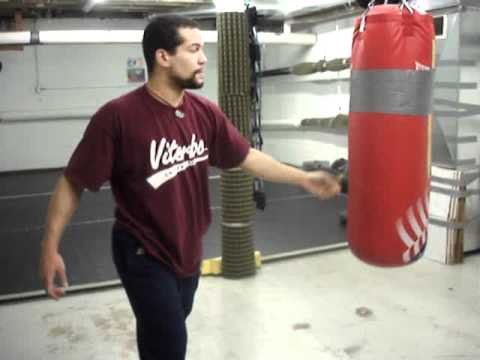 Punching drills with heavy bag Image 1