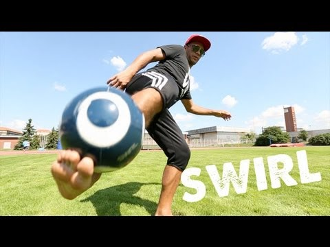 Learn To Do The Swirl - Football Freestyle Soccer Freestyle Skills video