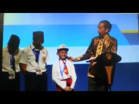 Di depan Presiden Jokowi, anak SD sebut ikan