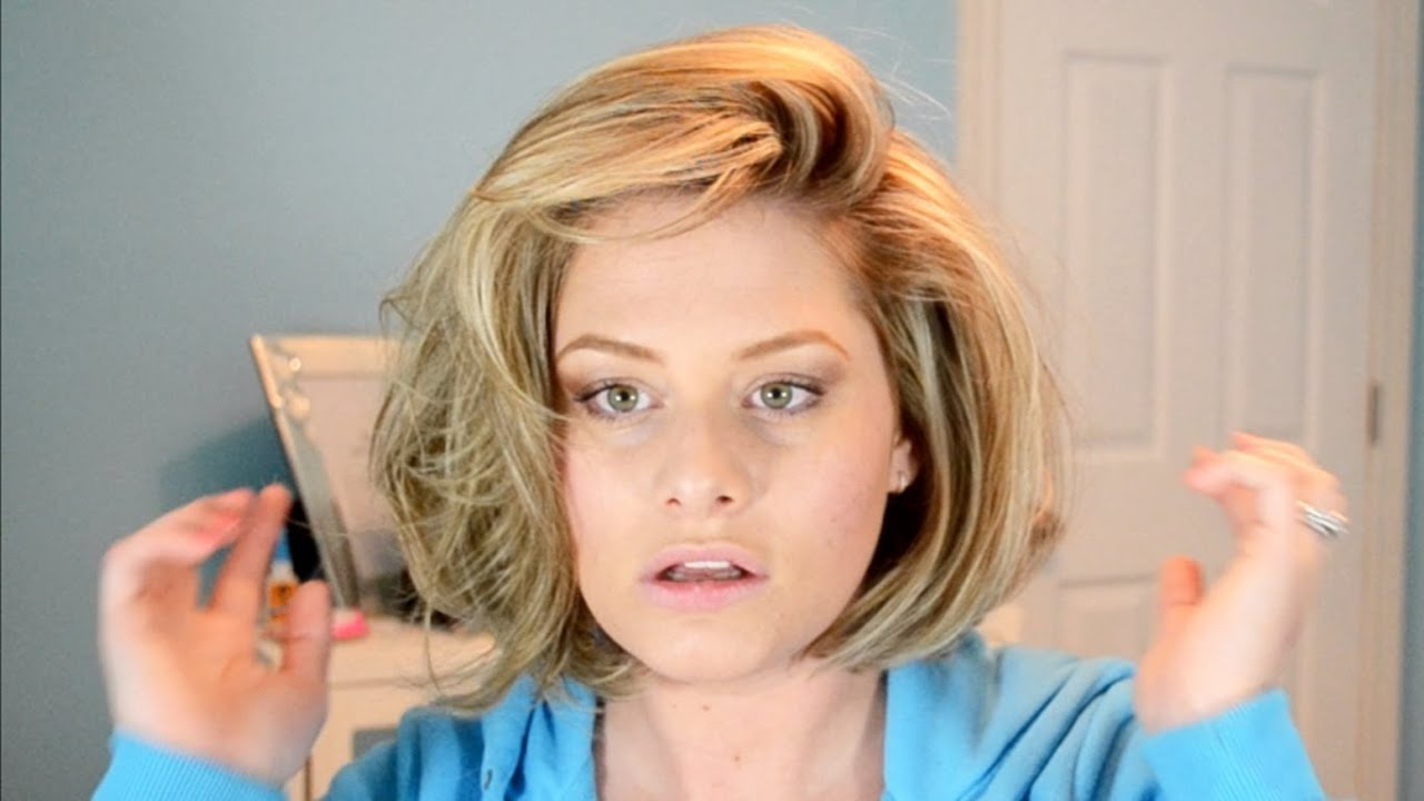 Big Hair Tutorial Hot Rollers In Short Hair Youtube