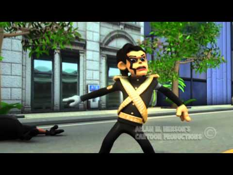Bad (3d Cartoon Version) Michael Jackson video