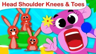Head, Shoulders, Knees and Toes | Exercise Song | Nursery Rhymes and Kids Songs by Little Angel