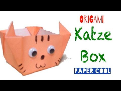 Origami Katzen Basteln Aus Papier Einfachen Katze Basteln Mit