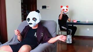 Panda man challenges Dude Perfect.