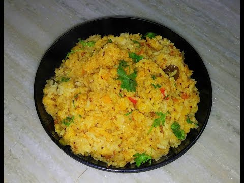 Dal rice in telugu | Healthy and easy lunch box recipe