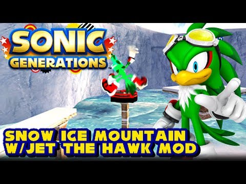 Sonic Generations PC - Snow Ice Mountain w/Jet the Hawk Mod