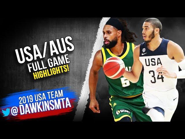 USA vs Australia Full Game Highlights  Aug 22, 2019  FreeDawkins