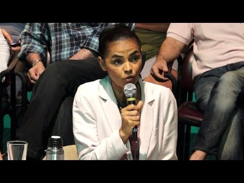 Brazil's Marina Silva announces her support for Aecio Neves