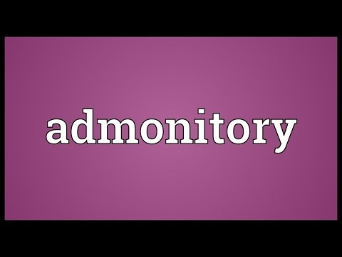 Header of admonitory