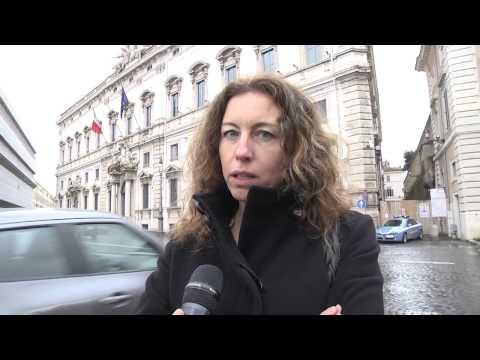 Pensioni - Erika Stefani protesta davanti alla consulta
