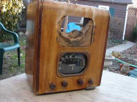 Howard 1930's Tombstone radio found in trash with 1949 service receipts