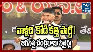 జగన్ పై బాబు ఫైర్ | Chandrababu Slams YS Jagan And YSRCP Party | New Waves
