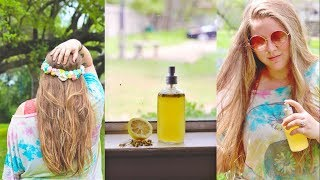3 WAYS TO LIGHTEN YOUR HAIR NATURALLY + DIY Hair Lightening Spray