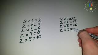 Tabela e shumezimit me numrin 2 Meso shqip