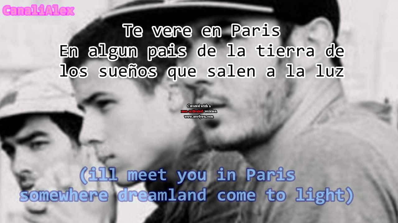 jonas brothers meet you in paris song