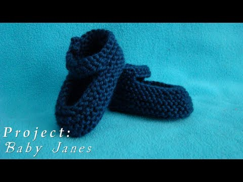Project     Baby Janes     Knitted Shoes