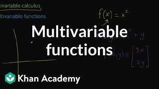 Multivariable functions   Multivariable calculus   Khan Academy