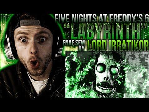 "Vapor Reacts #601   [FNAF SFM] FNAF 6 SONG ANIMATION ""Labyrinth"" by Lord Irratikor REACTION!!"