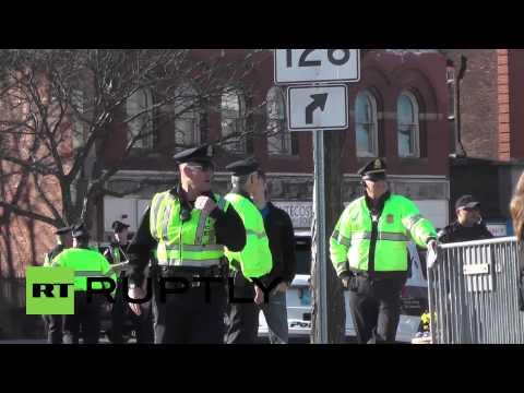 USA: Security tight at Boston Marathon