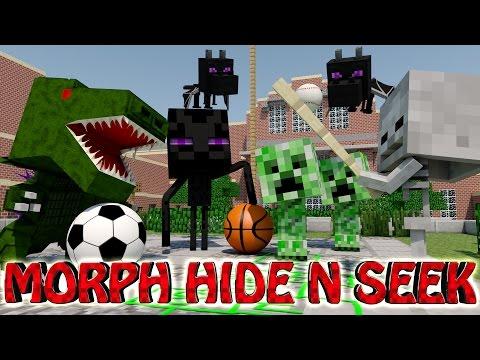 Minecraft | MORPH HIDE AND SEEK - MONSTER SCHOOL MOD! (Baby Monsters, School)