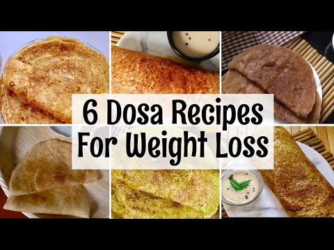 6 Dosa Recipes | Oats, Ragi, mung Dal, Sabudana instant Dosa | Weight Loss Recipes | In Hindi